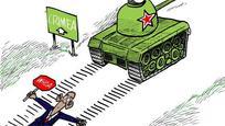 Karikatúra a Krím elfoglalásáról
