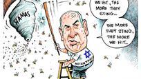 Benjámin Netanjahu izraeli miniszterelnök és a Hamász. (Forrás: http://www.daveg